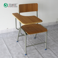 TSL-8250-2 Cheap Conference Training Folding School Chair Desk with Writing Pad