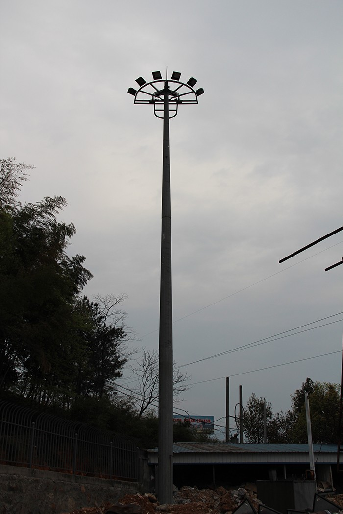Galvanized Street Light Pole Arms Specifications 30m High Mast ...