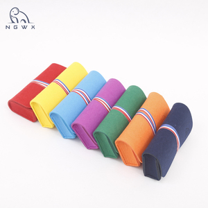 logo printed felt pencil pouch pen bag with case