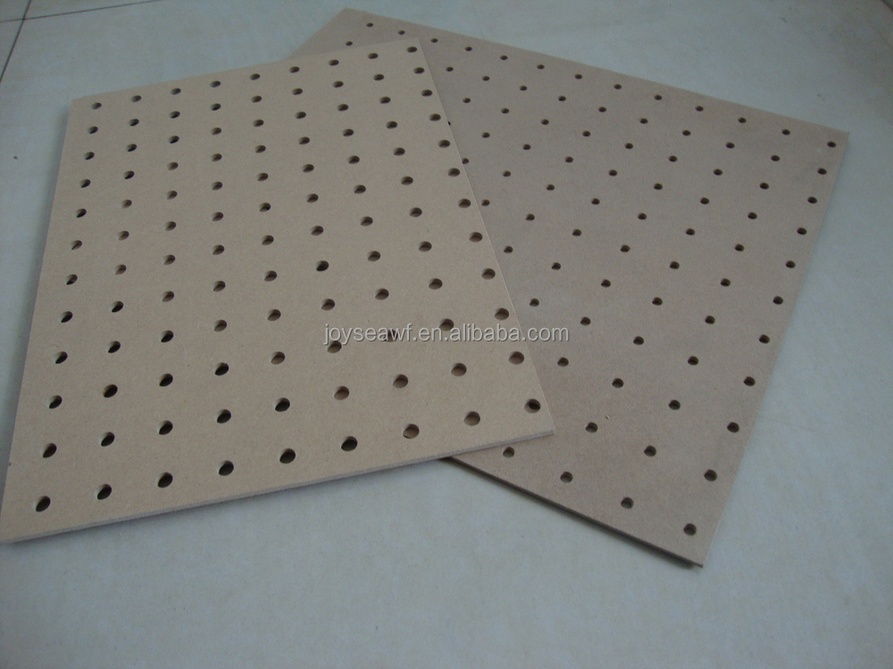 Perforated hardboard decorative panels