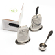 Stainless steel tea bag holder filter set tea ware with silicone tray coffee spoon