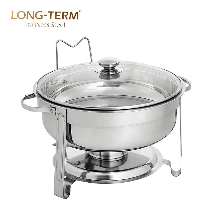 L4407A 에나멜 chaffing 요리 유리 뚜껑 세라믹 뷔페 chafing