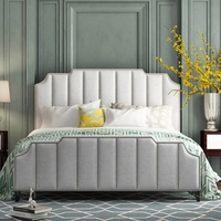 modern bedroom furniture contemporary decorative nail upholstered headboard velvet king size queen size bed