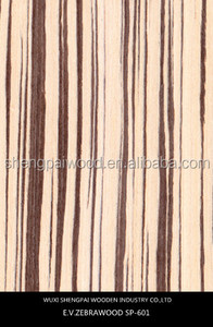 sliced cut zebrano timber wood recon mdf veneer for wooden face skins decoration/free song koto veneer