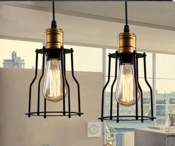 Loft Pendant Lights American Vintage Bar Restaurant Lamps Black E27 110v 220v Antique