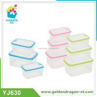 3pcs Rectangle Airtight Plastic Sealed Food Container With Porous Lid Food Container