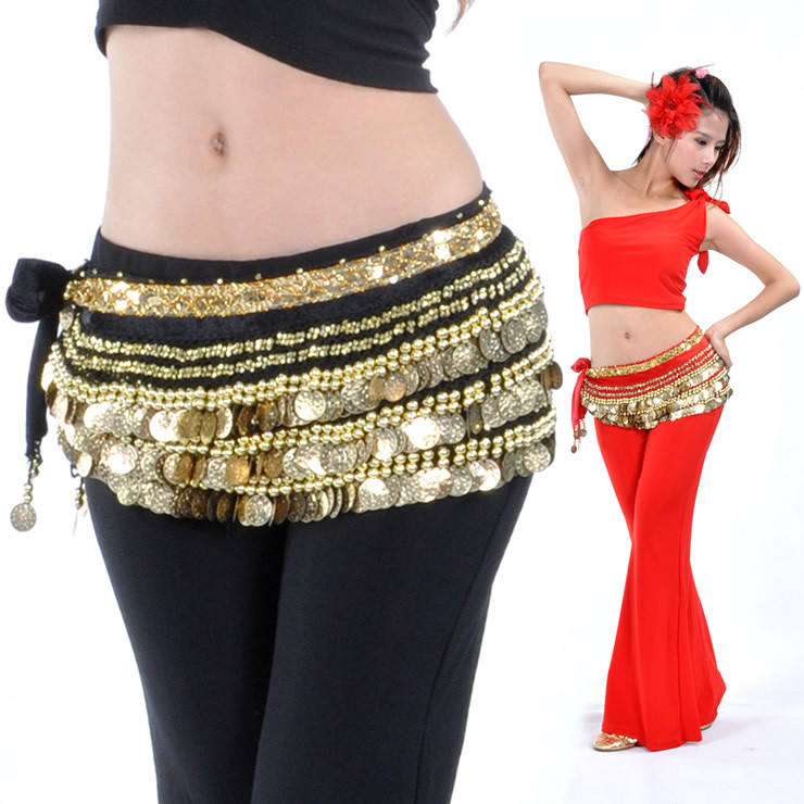 338 Add Weight Coins Belly Dance Waist Chain/ Hip Belt