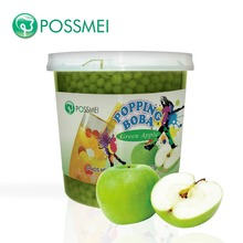 Hot Selling Taiwan <span class=keywords><strong>Bubble</strong></span> <span class=keywords><strong>Thee</strong></span> Groene Apple Popping Boba
