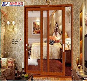 Chinese suppliers aluminum profile puja room bell door designs