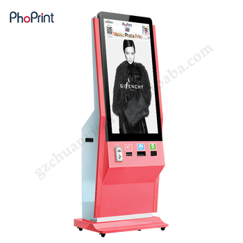 Photo Vending Machine Post Free Ads Large Screen Portable Hd Player Kiosk Equipment Photo Booth Printer