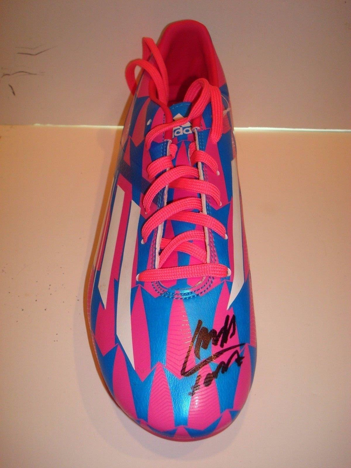 8ecd8cf97a0 Get Quotations · Luis Suarez Signed Adidas Soccer Cleat Boot COA Auto. FC  Barcelona 1B - PSA