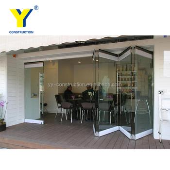 Interior Bifold Frameless Glass Door Exterior Aluminium Double