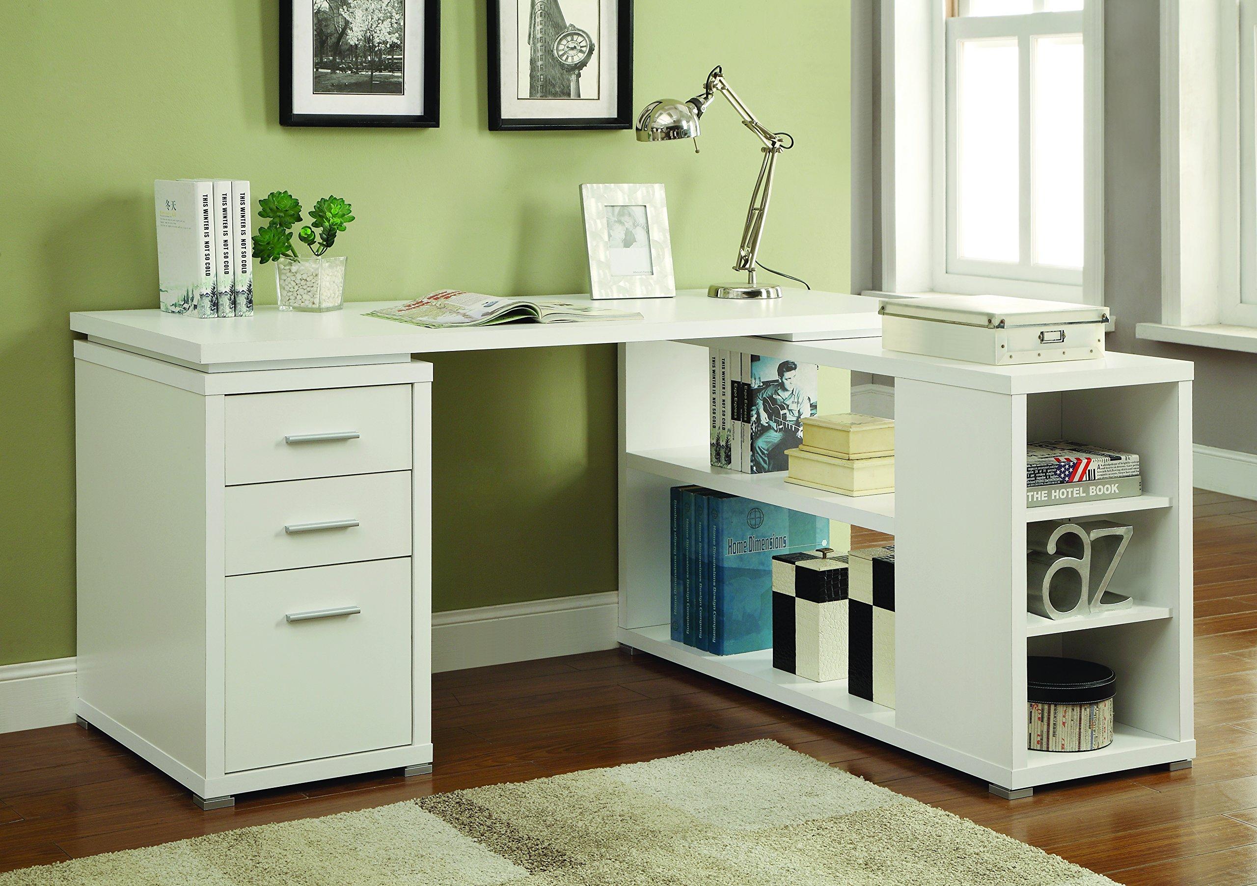 Yvette L-Shape Office Desk White