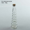 105ml clear glass oil and vinegar bottle with cork lid