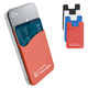 free shipping silicone cell phone wallet case credit ID card holder with 3M adhesive