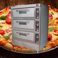 3 Decks 6 Trays Electric Bread Cake Pizza Oven/Kitchen Bakery Machine