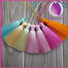 High quality colorful 8cm silk tassels for necklace bookmark jewelry bracelet