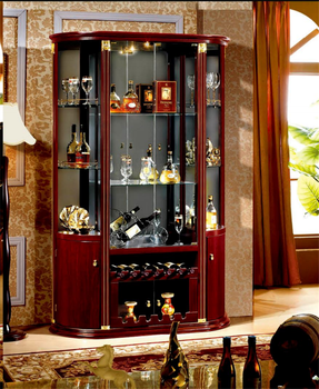 Semi Circle Glass Home Bar Cabinet Design