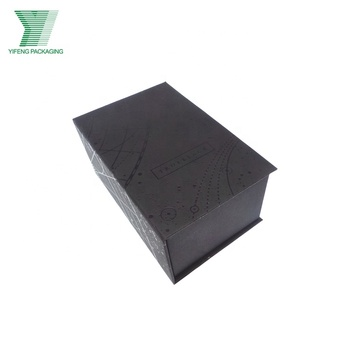 Special design products book shape black paper box for cosmetic packaging