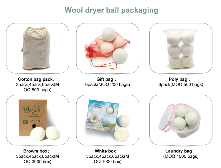 Wäschegebrauch Filz Weichspüler rein organische graue Wolle Trockner Bälle