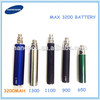 ego 3200mah/ego t 3200mah battery usb passthrough led/led ego twist 3.3v-4.8v variable voltage