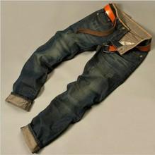 Tmavo-modré pánske džíny z Aliexpress