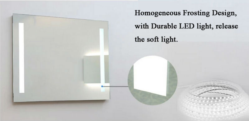 Full Length Bathroom Wall Mirror With Light Illuminated
