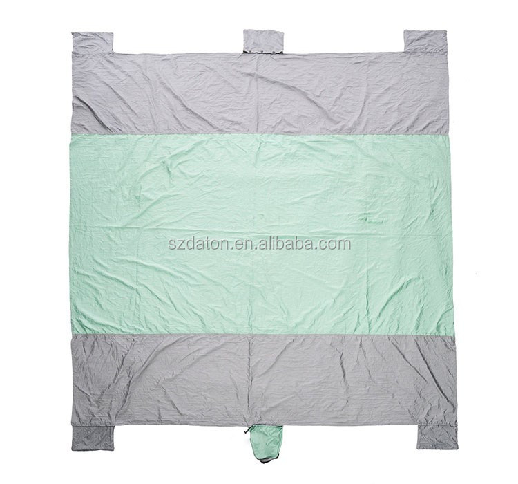 Waterproof Sandproof Mat Portable Compact Pocket Beach Picnic Blanket beach blanket parachute