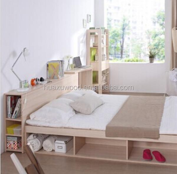 Hx Mz799 Korean Style Wooden Platform Bed Buy Wooden Bed