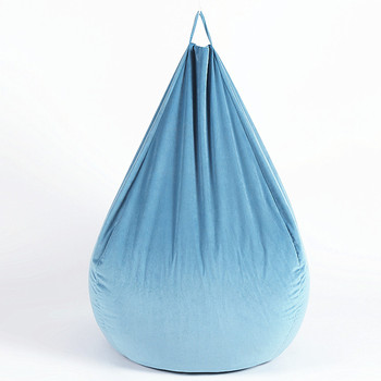 Hot Selling Baby Blue Teardrop Velvet Custom Adult Bean Bag Filling