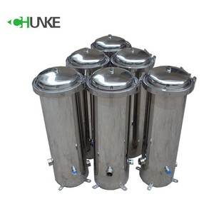 Food Grade Stainless Steel 304 Cartridge Filter Housing Water Treatment