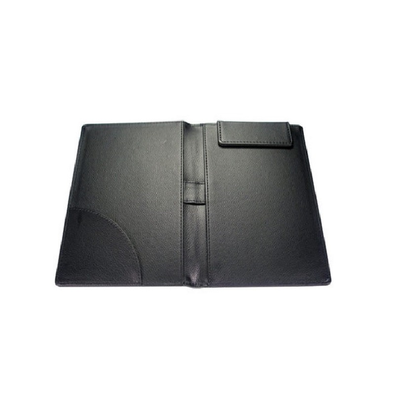 Black leather restaurant menu embossing folder