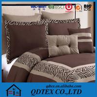 hotsale new pattern 100% cotton embroidery king size walmart bedding