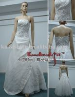 EB814 Special Curtain design lace embroidery organza fluffy Wedding dress party dress