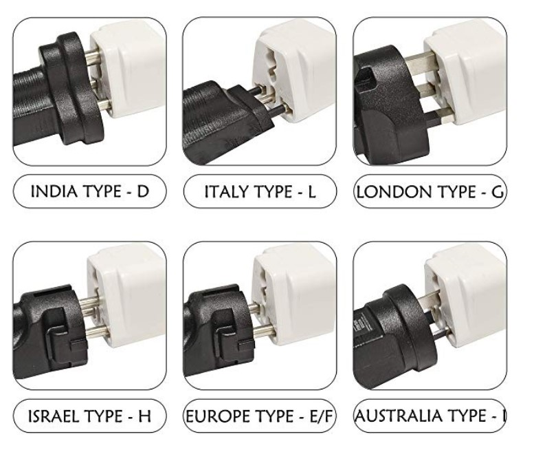 250V Grounded Universal Power Plug Adapter for USA to Type G Countries UK Ireland Hong Kong