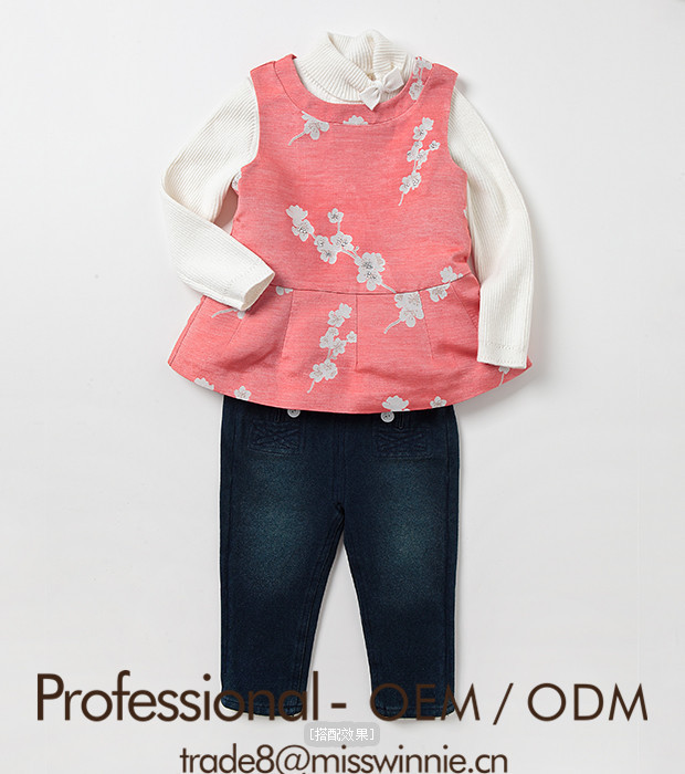 latest girls cute printed pink vest with frill bottom for 2-12 years old girls sewing contractors