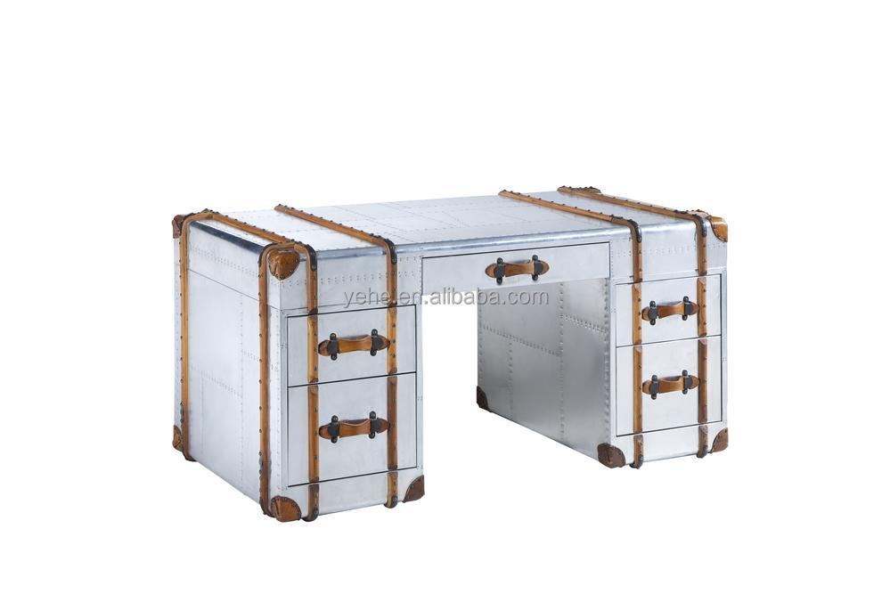 Aluminum Aviator Office Desk Table Decoration Reception Desks Executive