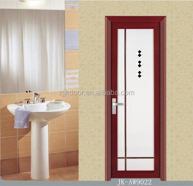 China wholesale aluminum window and door toilet door for Aluminium bathroom door designs