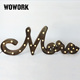 3D rustic joint writing word company logo name marquee letter lights