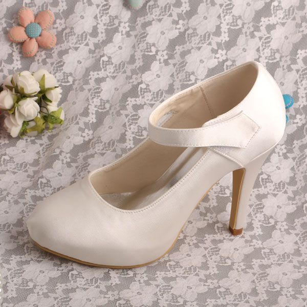 Cream High Heels Shoes For Women Ivory P Toe Bridal Shoe Prom Product On Alibaba