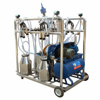 Farm Cow Mobile Milking Machine Price With 4 Clusters Can Milk Four Cows at a time