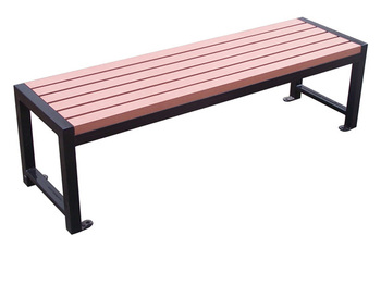 Arlau Outdoor Wooden Furniture, Garden Bench Long Chair,Recycle Plastic  Wood Backless Bench