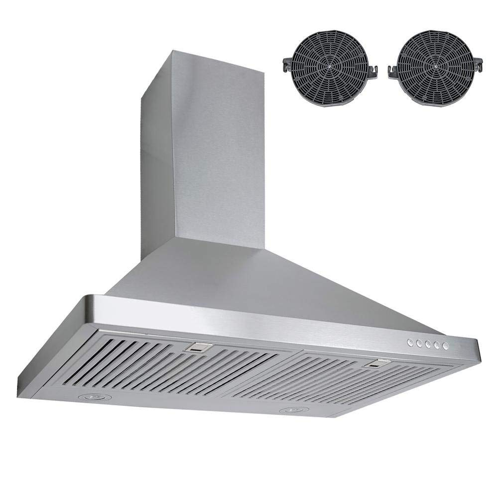 """760 CFM Ductless Wall Mount Range Hood in Silver Size: 41.7"""" H x 30"""" W x 18.9"""" D"""