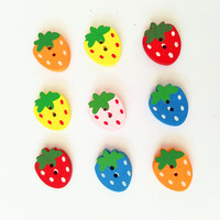 2-hole Strawberry Shape Cheap Sewing Buttons With Pine Material