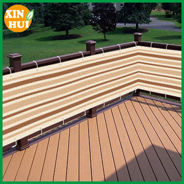 Brown Striped Privacy Screen Net for Deck, Balcony, Fence, Pool or Patio