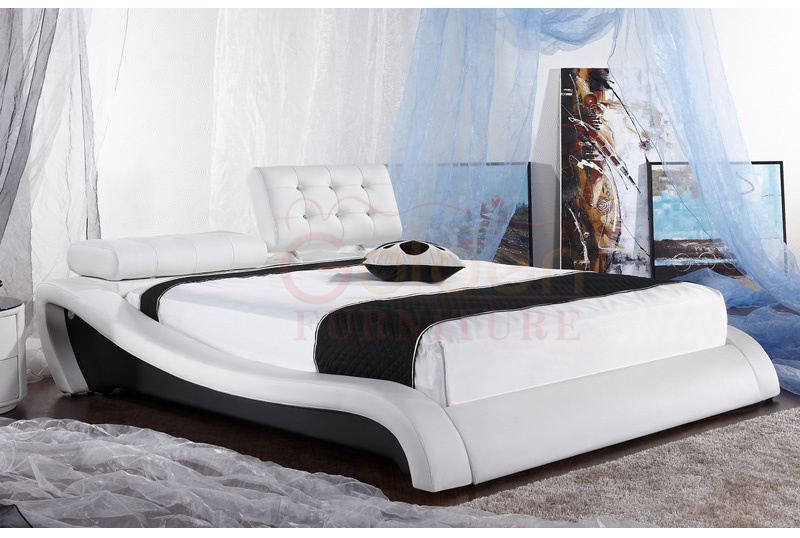 King Size Leather Sex Bed Frame European Bed Frame G View - Cot designs for bedroom