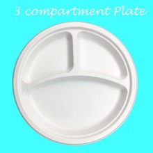 <span class=keywords><strong>Bio</strong></span> Bagasse 3 Compartiment Plaat