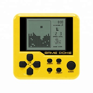 Built-in 26 Games Mini Tetris Game Console Retro Matchbox Tetris Console Game Console LCD Portable Electronic Educational Toys