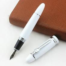 Jinhao 159 перьевая ручка большого размера, роскошная металлическая чернильная ручка, винтовая крышка, изящный наконечник, деловые канцелярски...(Китай)