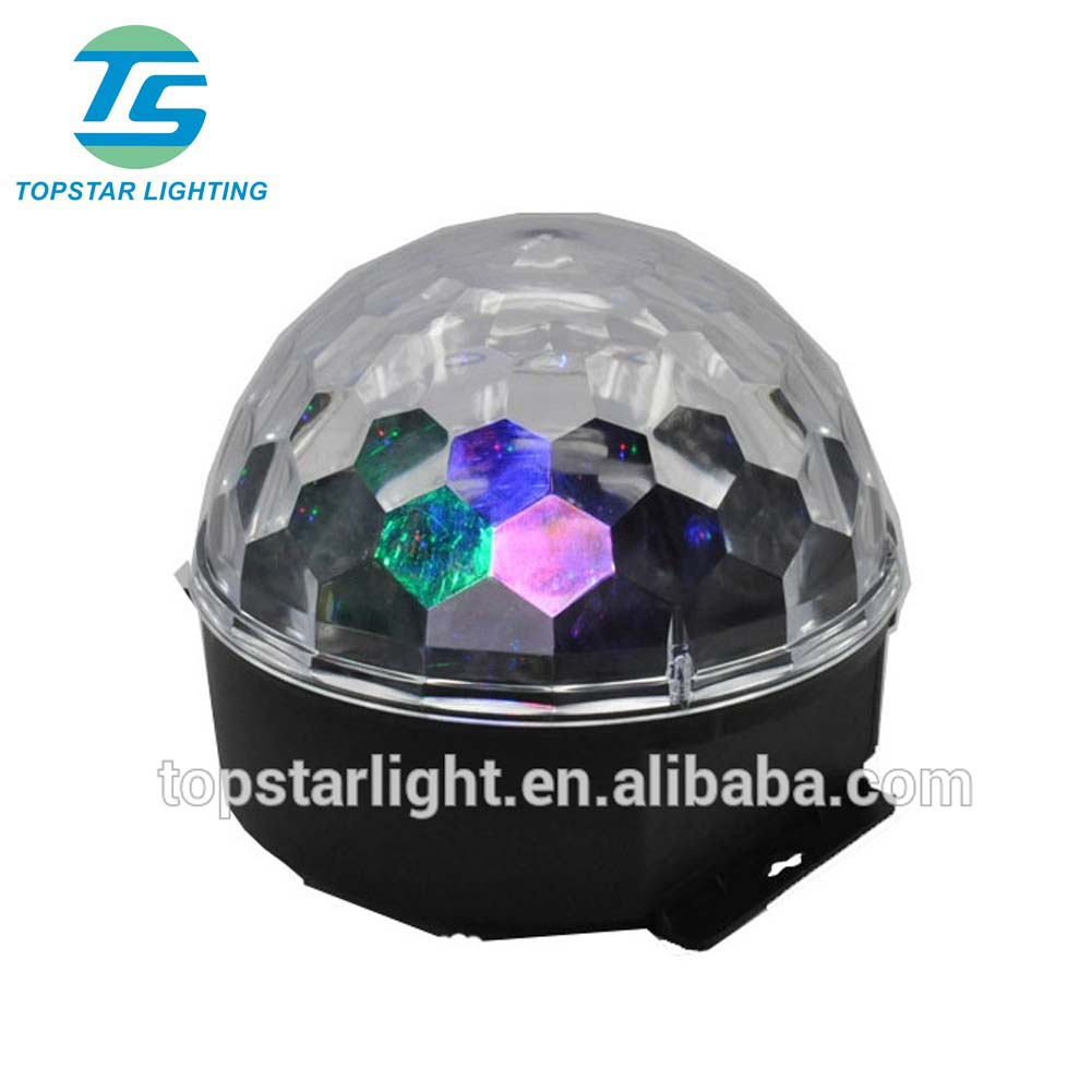 (TSA250)Cheapest RGB Mini LED Crystal disco Ball/ Professional LED Magic Bright Disco Ball Light